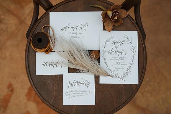 Isabelle + Alexander Letterpress Invitation Suite