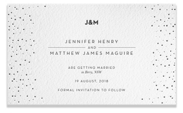 Letterpress Save the Date - Jennifer & Matthew