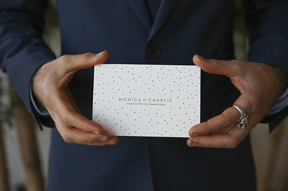 Monica + Charlie letterpress invitation