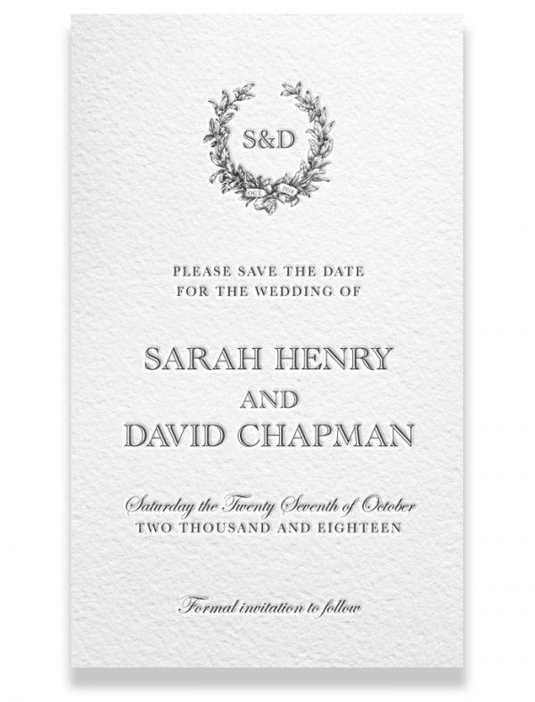 Letterpress Save the Date - Sarah & David