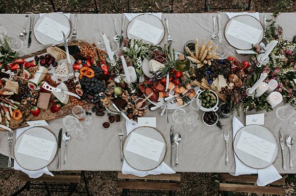 Wedding Day Table Setting