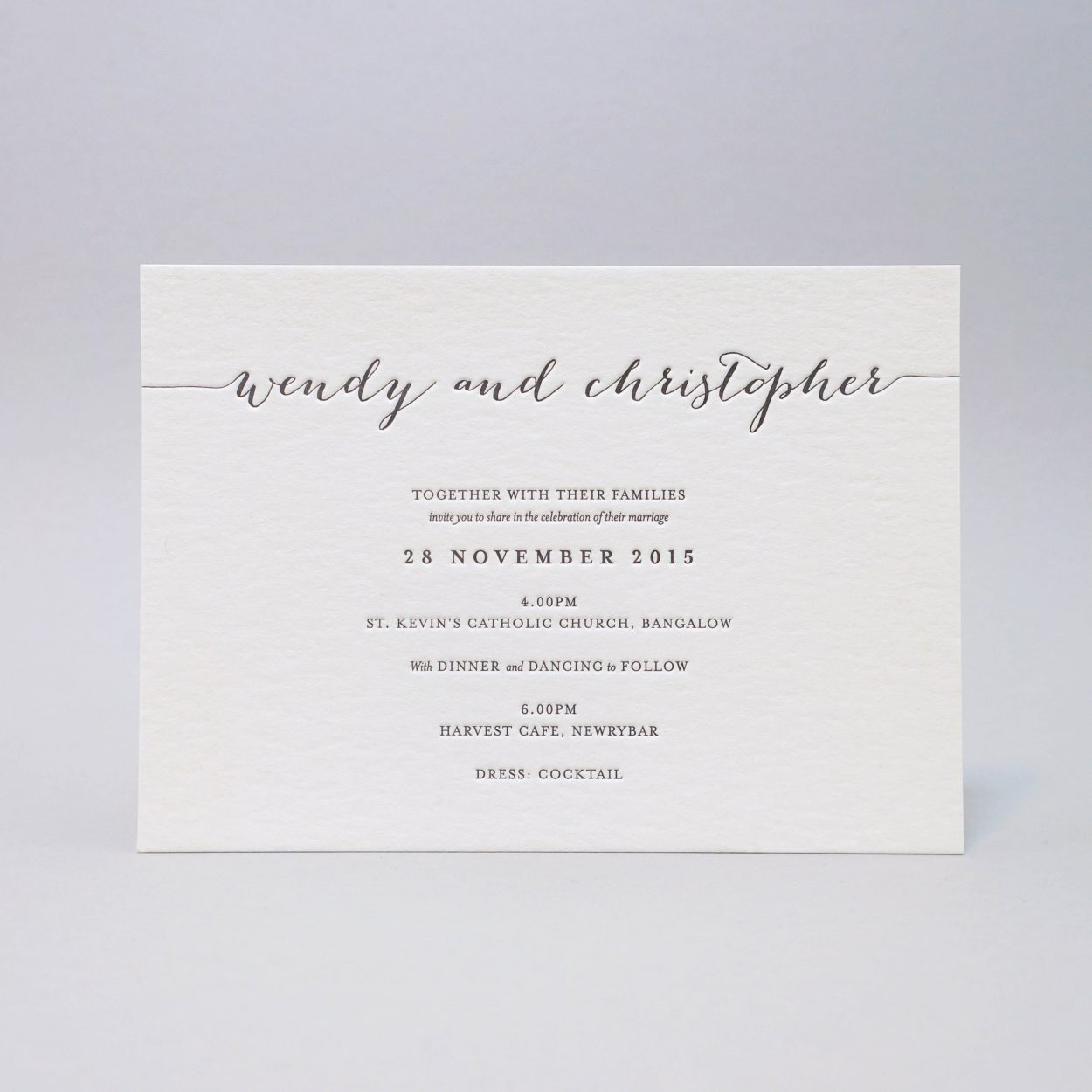 Letterpress-invitations
