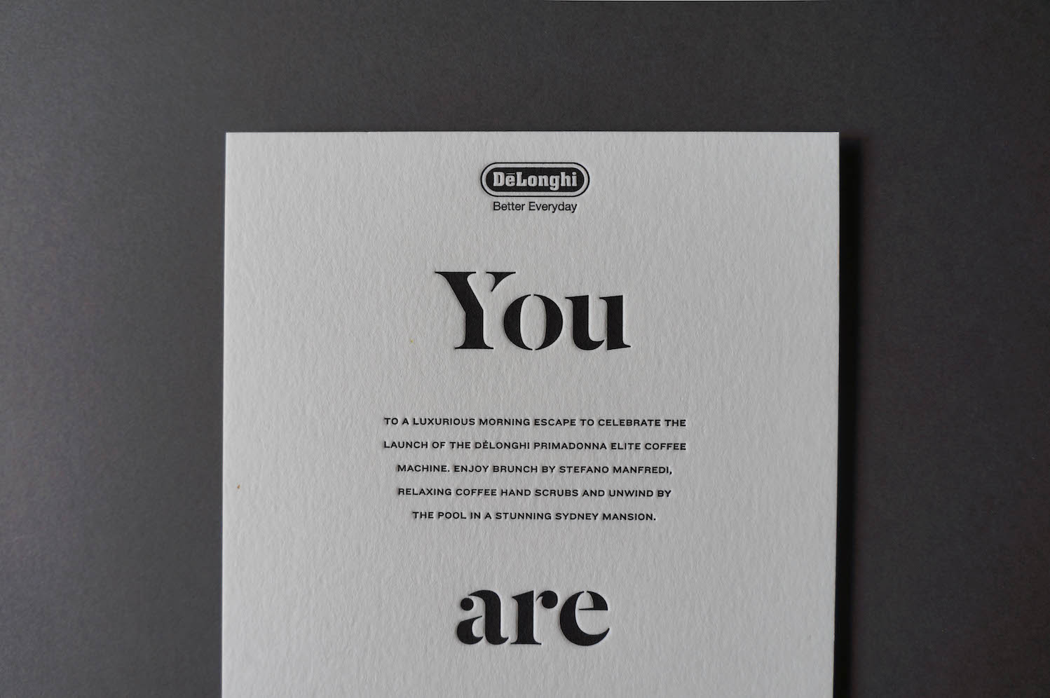 Delonghi Invitations Crafted By D D Letterpress