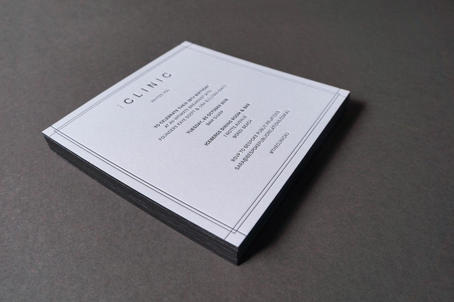 Letterpress-birthday-invitation-the-clinic-bespoke-public-relations