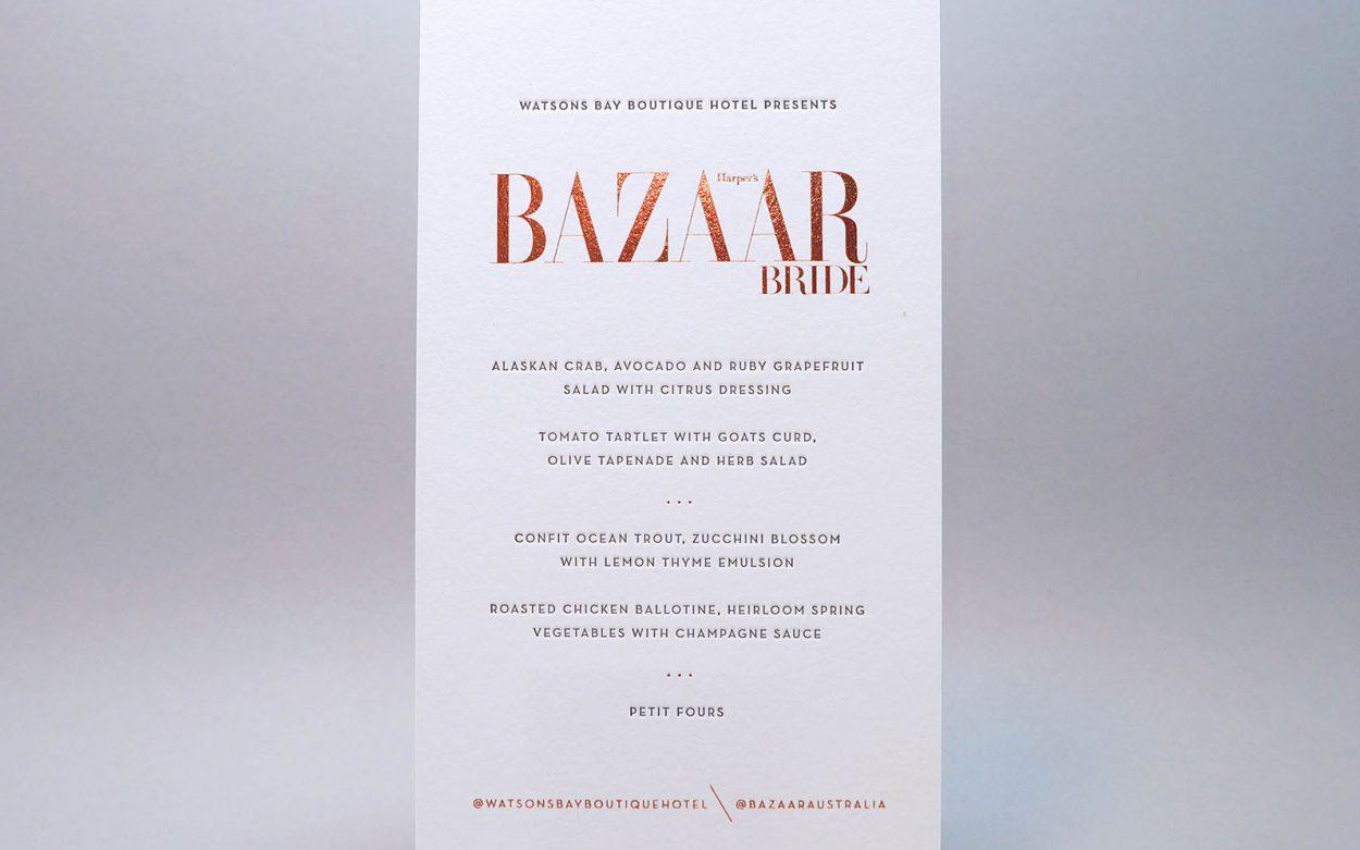 Harpers-bazaar-bride-invitation-copper-foil
