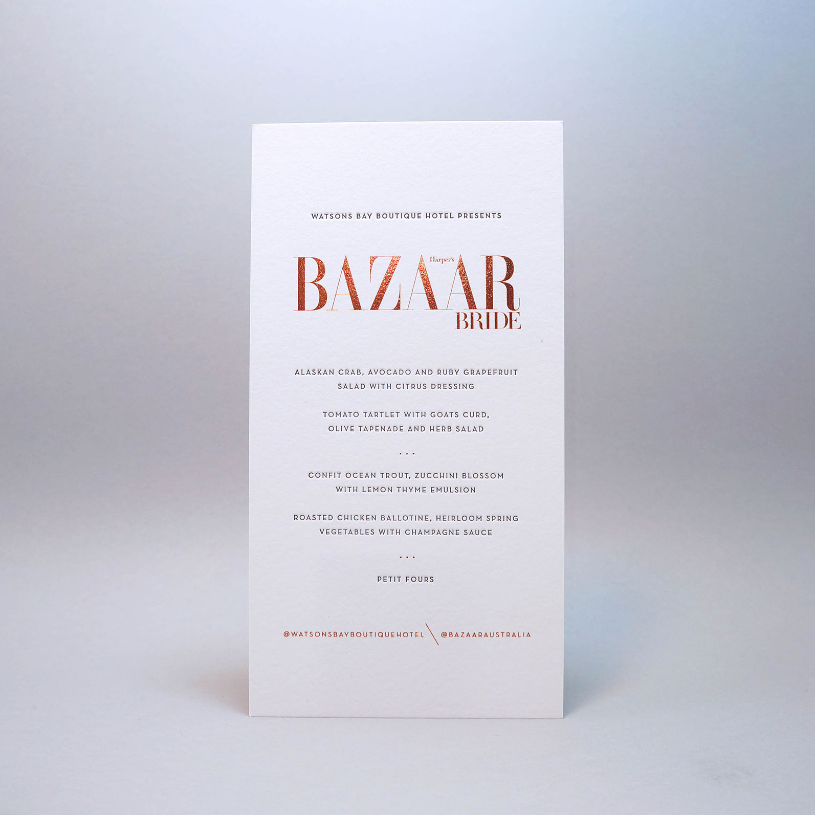 Harpers-bazaar-bride-invitation-copper-foil