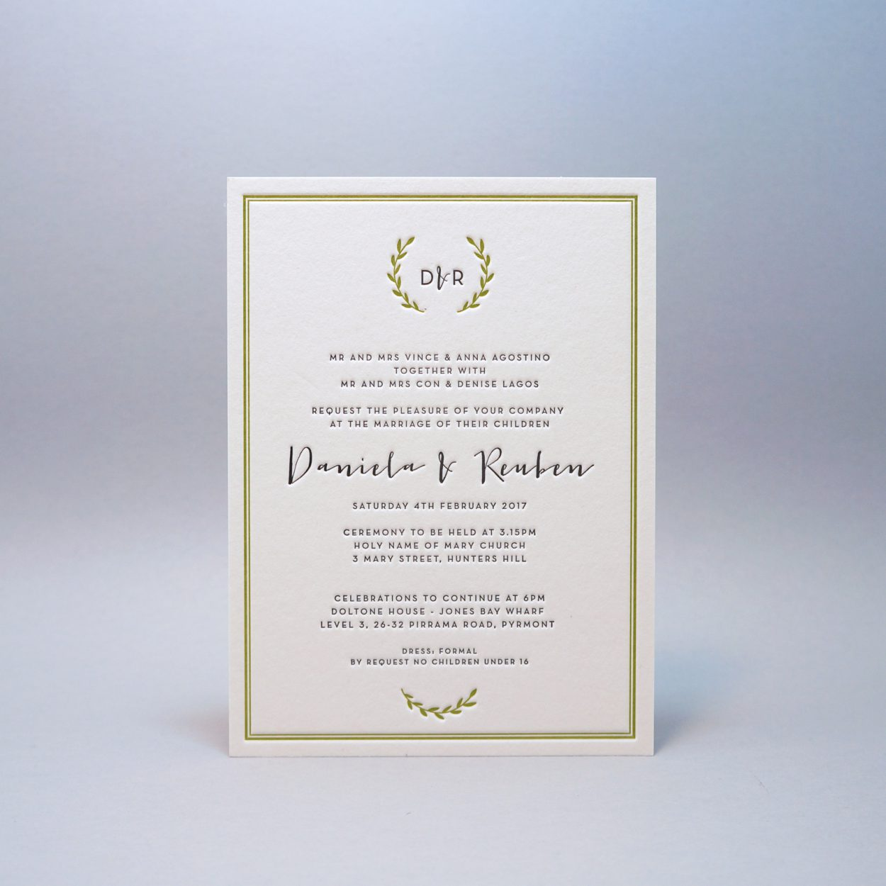 Letterpress-wedding-invitations-green-cordenons-wild lettra-wreath