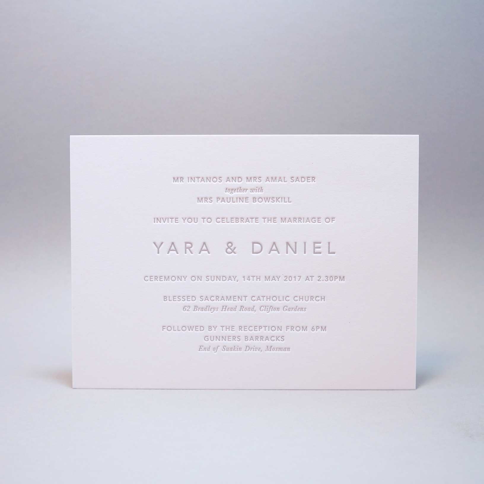 Letterpress-wedding-invitations-minimal-grey-silver-modern-gmund